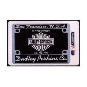 Collectible Phone Card 10m Dudley Perkins Large Harley Davidson Logo