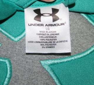Womens Teal UNDER ARMOUR HOODIE Logo Hoody Sweatshirt Large L