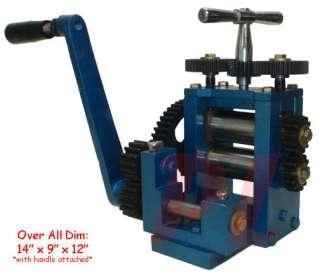 80mm) ROLLING ROLL ER MILL Sheet Metal Wire Flat Pattern 5Dies 5 Gauge
