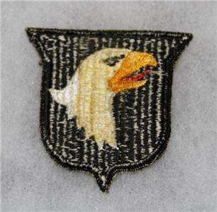 100% ORIGINAL WW2 US 101ST AIRBORNE PARATROOPER PATCH NO GLOW