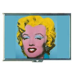 ANDY WARHOL MARILYN MONROE BLUE ID CREDIT CARD WALLET CIGARETTE CASE