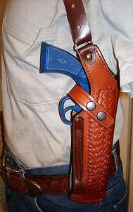 LEATHER SHOULDER HOLSTER 4 RUGER SP101 2.25 AND LCR 2.25  3 38 357