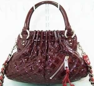 MARC JACOBS Cecilia Small Patent Quilted Handbag, Shoulder Bag, MSRP