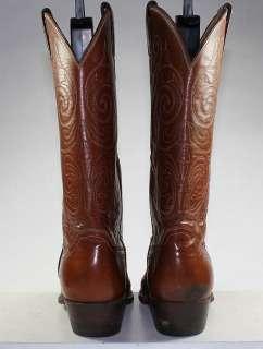 JUSTIN LEATHER WESTERN/COWBOY BOOTS LEATHER SOLES VINTAGE MENS sz 8.5