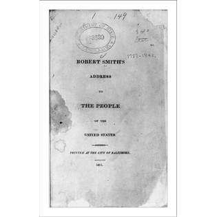 historic print m title page of robert smith address to the people of