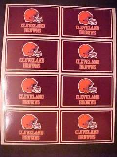 CLEVELAND BROWNS sheet of EIGHT STICKERS mint unused condition