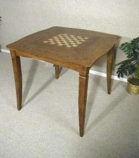 Oak Pub Game Table Chess Backgammon Board