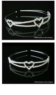 Silver Wedding/Bridal crystal veil tiara headband CR043