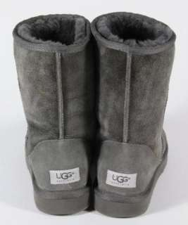 Ugg Classic Grey Suede Sheepskin Short Boots Size 10
