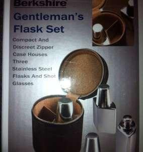 Gentlemans Flask Set   NEW IN BOX   Great Groomsmen Gift