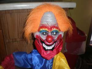 HUGE 3 FT. TALL ANIMATED EVIL SCARY CLOWN HALLOWEEN PROP L@@K!!