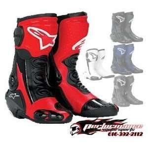 Alpinestars S MX Plus Racing Boot , Color Black/Red, Size