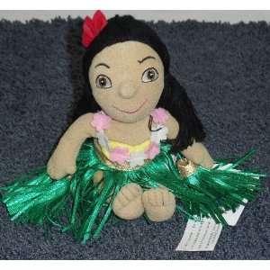 Small World 8 Plush Hawaiian Girl in Grass Skirt Doll Toys & Games