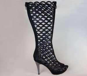 Lady Couture High Heels Ladies Boots Black All Sizes