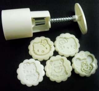 Moon cake mold 50g & Mickey winne hello kitty 5 stamps