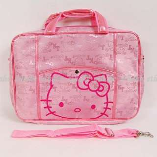 Hello Kitty Knitted Notebook Bag Laptop Case Pink 17T8