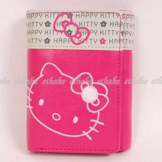 Hello Kitty Trifold Mini Wallet Coin Purse Rose 17SV