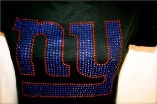 NY New York Giants Bling Womens Studded Tee Shirt Sm 3X