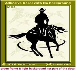 Spinning Reining Horse Trailer Window Decal Sticker 505