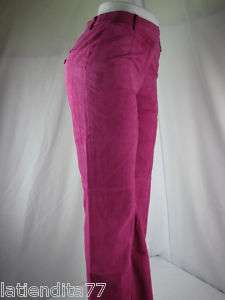 Womens J. G. Hook Leather Pants Pink Size 6 NWT