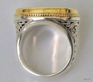 Womens KONSTANTINO Large Mother of Pearl Intaglio Cross Ring