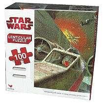 Star Wars Lenticular Puzzle 100 Piece   Starfighter   Cardinal
