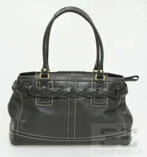 Coach Black Pebbled Leather Hamptons Tote Bag