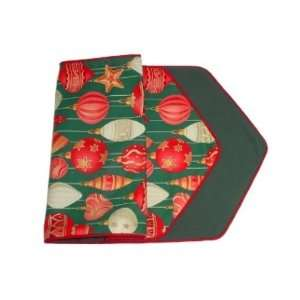 Table Runner 36 Christmas Ornaments Hand Made in USA   Reversible