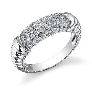 Celebrity Inspired Cubic Zirconia Engagement Ring Peora Jewelry
