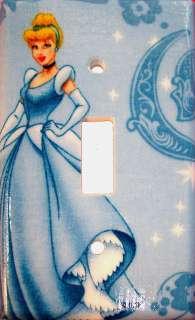 Disney Princess Light Switch Plate/Cover   Blue