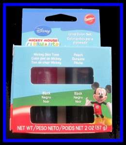 NEW Wilton **MICKEY MOUSE CLUBHOUSE** Icing Color Set