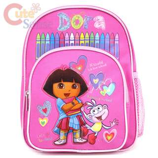 The Explorer Dora & Boots School Backpack ,Toddler Small Bag 10in Pink