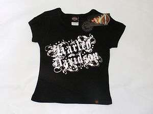 Harley Davidson Toddler Girl Logo T Shirt Black Kids