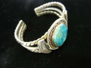 Native American Jewelry Turquoise Authentic Sterling Silver Bracelet