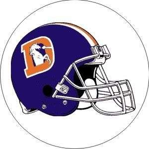 Vintage NFL Broncos helmet football logo sticker decal