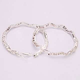 New Full Rhinestone Hoop Earrings stud eardrop Earring