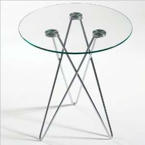 ITALMODERN Zelda Round Glass End Table Furniture & Decor
