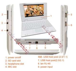 Mini Laptop Notebook WIFI Windows CE 4GB Hard Drive 256M RAM