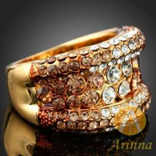 arinna shiny topaz 18k gold gp swarovski crystals ring sku j2078 1 usa