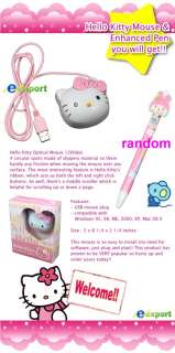 Hello Kitty USB 3D Laptop Optical Mouse with PEN KA48