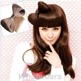 Fashion Hair Extension Bow Bowknot Comb Clip Hairpiece 6 Colors PP11