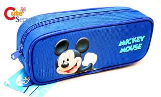 Disney Mickey Mouse Zippered Pencil Case Cosmetic Bag