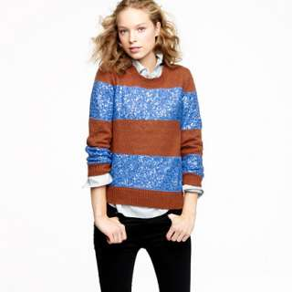 Wynter sweater in sequin stripe   crewnecks & boatnecks   Womens