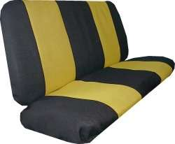 YELLOW BLK RACING CAR SEAT COVERS SPORT JERSEY 9 PC PKG