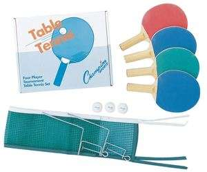 Deluxe 4 player Table Tennis Ping Pong Set