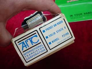 Vintage AITC Transistor AM Pocket RADIO P2108