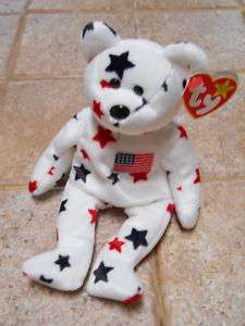 Ty Beanie Babies Glory USA 4th of July Bear MWTs