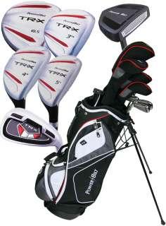 NEW PowerBilt TRX Mens 15 Piece Complete Golf Set   Bag Included