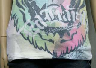 ED Hardy womens ELECTRIC TIGER T shirt allover NEW