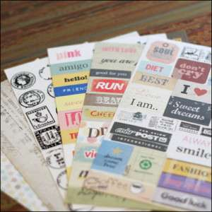 PONY BROWN Diary Deco Sticker Pack 6Sheets MESSAGE